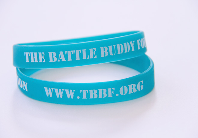 The Battle Buddy Foundation blue bands