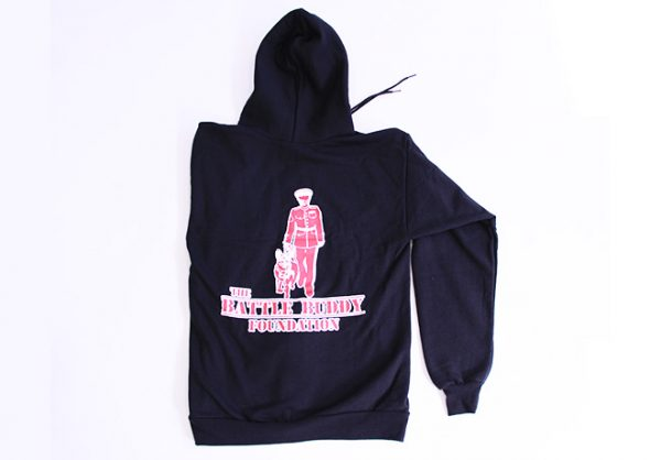 The Battle Buddy Foundation zip front hooded sweatshirt