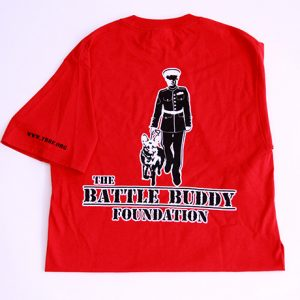The Battle Buddy Foundation red T-shirt